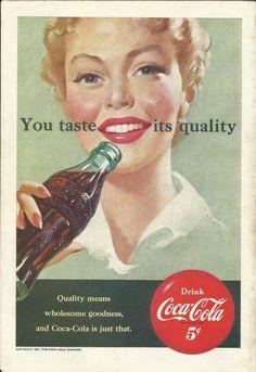 CocaCola Original 1951 Vintage Print Ad w/ Color by VintageAdarama, $9.99