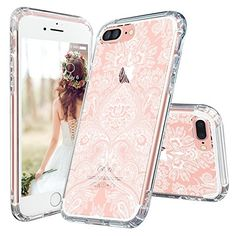 for Apple iPhone 7 Plus (5.5 Inch)TPU Bumper Hard Cover Flower Design New #MOSNOVO