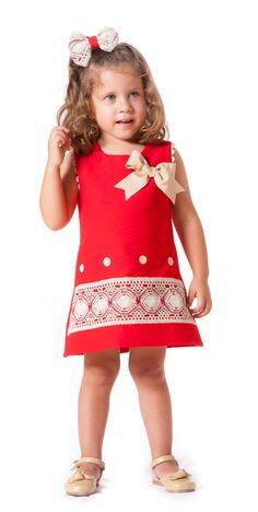 Vestido de niña de piqué paraisobebe.com ropa, bebé, verano, primavera, infantil, niña, moda
