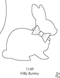 Memory Box - Frilly Bunny Die - POP-1149 (Easter) - Pre-order Only