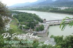 Dujiangyan Irrigation System Tours ChengDu WestChinaGo Travel Service www.WestChinaGo.com Tel:+86-135-4089-3980 info@WestChinaGo.com Chengdu, Irrigation, Tours, River, Beach, Outdoor, Outdoors, Outdoor Games, Outdoor Life