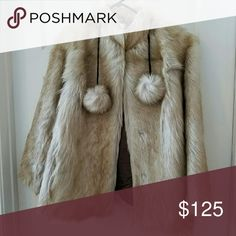 """Reindeer Fur Jacket from Iceland 42 Vintage OOAK Reindeer Fur Coat From Iceland Vintage 28"""" length tag says 42 I'm a 36B or Canada cup Bravo and it fits me just right Jackets & Coats"""