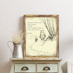 Winnie the Pooh, Classic Pooh, Pooh Wall Art, Pooh and Piglet, Vintage Pooh Sketch, Vintage Pooh Drawings, Classic Winnie the Pooh, Quotes. Winnie The Pooh Classic, Childrens Wall Art, Crisp Image, Vintage Images, Vintage World Maps, Kids Room, Great Gifts, Sketch, Art Prints