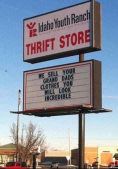 Thrift Store : We sell your grand dads clothes you will look incredible