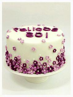 Divina torta de flores