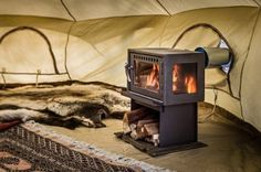 Prolong your camping season with the Orland Tent Stove. The Orland Tent Stove works with all CanvasCamp Canvas Tents. Best Camping Stove, Best Tents For Camping, Go Camping, Camping Hacks, Outdoor Camping, Camping Ideas, Camping Essentials, Camping Cooking, Outdoor Pergola