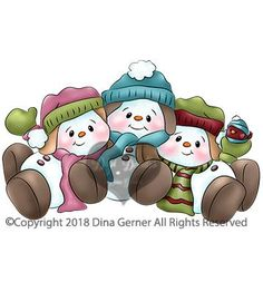 Digi Doodle Studios Digital Stamps – Page 7 Christmas Vases, Christmas Colors, Christmas Projects, Preschool Christmas Games, Christmas Printables, Homemade Face Paints, Snowman Faces, Christmas Drawing, Christmas Coloring Pages