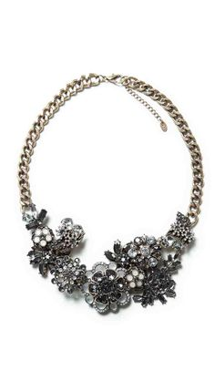 Latest Zara necklace crush - now that my first one seems to have sold out.     Zara multi flower crystal necklace £29.99