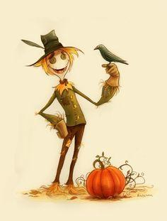 Картинки по запросу scarecrow illustration