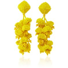 Sachin & Babi The Grapes Lemon Earrings ($250) ❤ liked on Polyvore featuring jewelry, earrings, beading jewelry, lemon earrings, bead jewellery, earrings jewelry and vine jewelry