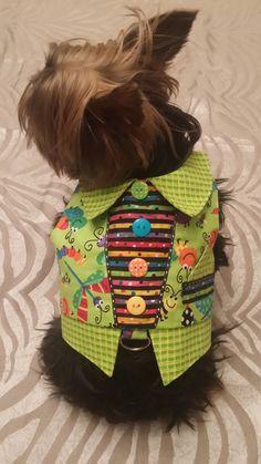 Bright colored boys vest size medium. by OsuzyQsLapdogDesigns