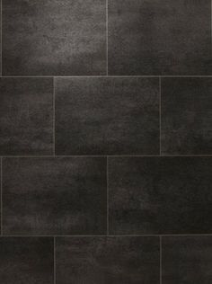 Sol vinyle imitation carrelage noir authentic melbourne noir saint maclou entr e pinterest - Carreaux sol noire ...