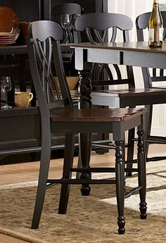 Ohana Counter Height Chair - Black - Homelegance