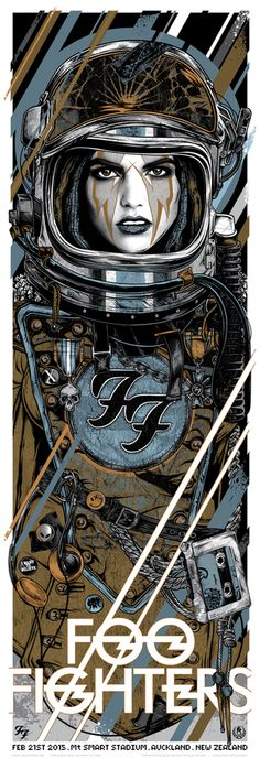 Studio Seppuku - The Art of Rhys Cooper — FOO FIGHTERS - 2015 TOUR - ROCKET GIRL - NZ