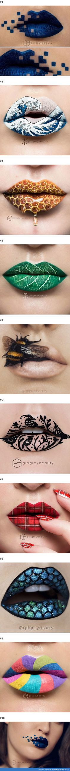 Makeup Artist Uses Her Lips To Create Stunning Art Pieces