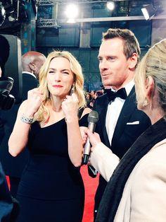 Michael Fassbender and Kate Winslet @BAFTA 2016.