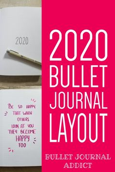 Bullet Journal Collections To Try For 2020 - Bullet Journal New Year Set Up - Bullet Journal Layout Ideas Bullet Journal Yearly Spread, Bullet Journal Index, Bullet Journal Tracker, Bullet Journal Layout, Bullet Journal Inspiration, Journal Fonts, Bullet Journal Printables, Journal Themes, Journal Quotes