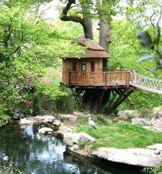 #Mazzelshop-- #Inspiratie #Boomhut #Treehouse #Tuin #Garden #Kids #Fun