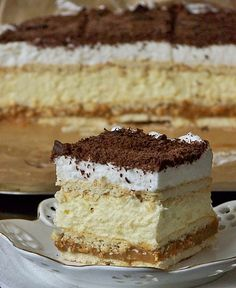 My Dessert, Dessert Recipes, Polish Desserts, Cheesecakes, Baked Goods, Tiramisu, Sweet Tooth, Cooking Recipes, Sweets