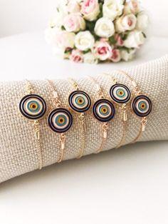 WHOLESALE evil eye bracelets available. Evil Eye Jewelry, Evil Eye Bracelet, Hand Bracelet, Eye Necklace, Lucky Charm Bracelet, Evil Eye Charm, Rose Gold Jewelry, Diana, Adjustable Bracelet