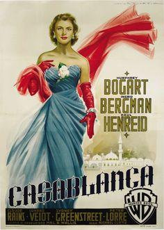 Afiche italiano a favor de Warner Brothers (1953).