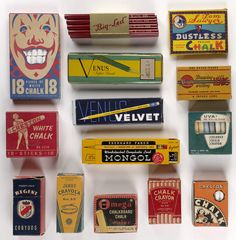 Vintage chalk packaging. PD