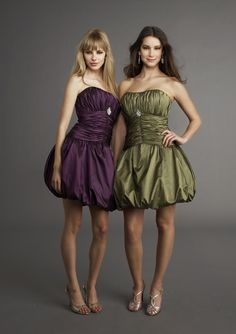 Possible bridesmaid dresses for an earthy color scheme.