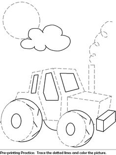 Tractor tracing for pre-writers! Already had to print this one for the boys lol!