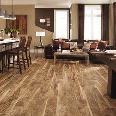 Heritage Luxury Vinyl wood Planks hardwood Flooring -- Mannington Residential -- color: Buckskin
