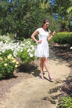 Delicate White Lace Dress for under $100 Style me Lauren