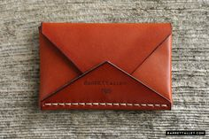 Disciple Leather Card Holder in Russet | Barrett Alley - Handmade in USA $95
