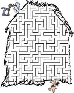 Раскраски Раскраска лабиринт Подземный лабиринт
