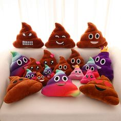 Creative Cute Emoji Poop Shits Plush Toy Pillow Cushion Home Living Decor for Bed Sofa Car -- BuyinCoins.com