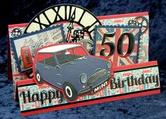 All Occasion Dies Mini, Clock and Cogs, Happy Birthday word dies, with XL Numbers.