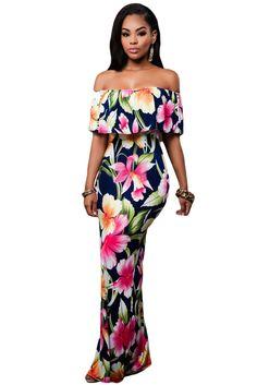 Fashion Dresses : Maxi vestido                              …
