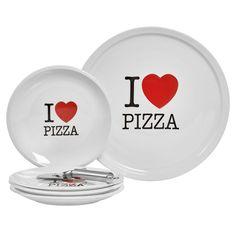 Gallery I Love Pizza 6-pc. Serving Set, Multicolor