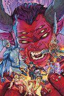 Teen Titans vs Trigon by Howard Porter Dc Comics Heroes, Dc Comics Art, Raven Comics, Cosmic Comics, Beast Boy, Young Justice, Gi Joe, Nightwing And Starfire, My Hero Academia