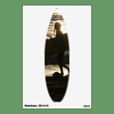 Surfer silhouette water decal