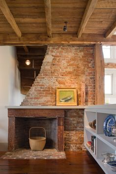 Woodstove/fireplace and elliptical arch mirror. | fireplace ...