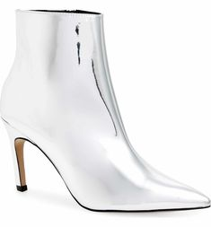 efba3f68999 Women s Dominique Pointed Kitten Heel Wide Width Booties - A New Day Silver  6.5W