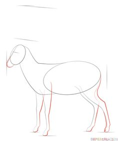 How to draw an antelope step by step. Drawing tutorials for kids and beginners.