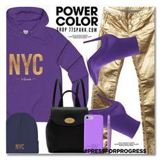 """International Women's Day: Purple Power"" by duma-duma ❤ liked on Polyvore featuring Faith Connexion, ALDO, Mulberry, purplepower, internationalwomensday and pressforprogress"
