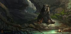 Concept artist Vance Kovacs Disney's The Jungle Book.
