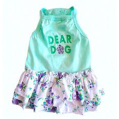 Vestido para Cachorro Dog Flor Verde Babadinhos Dear Dog - MeuAmigoPet.com.br #petshop #cachorro #cão #meuamigopet