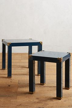 Lacquered Wellington Nesting Tables #anthropologie