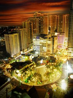 Eastwood City, Libis - Philippines I lived in the second building on the left. I LOVED living in Eastwood! Places Around The World, Around The Worlds, Filipino Culture, Visayas, Mindanao, Quezon City, Manila Philippines, Night City, Island Beach