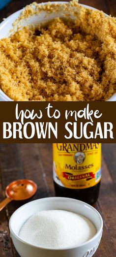 How to make a Brown Sugar Substitute - Crazy for Crust Learn how to make brown sugar! You can make brown sugar at home using sugar and molasses! 2 ingredient brown sugar substitute in case you're out and need some quick! Brown Sugar Glazed Carrots, Brown Sugar Salmon, Brown Sugar Chicken, Make Brown Sugar, How To Make Brown, Brown Sugar Fudge, Brown Sugar Frosting, Brown Sugar Cookies, Sugar Cookies Recipe