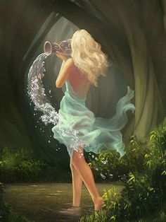 Aquarius,the water bearer. Aquarius Art, Aquarius Horoscope, Aquarius Woman, Age Of Aquarius, Zodiac Signs Aquarius, Zodiac Art, Aquarius Water Sign, Aquarius Tattoo, Astrology Signs