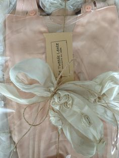 ♥ Pink and White Bow
