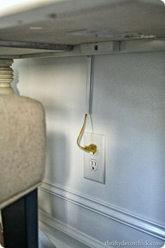How to hide electrical cords #helpful #helpfultips